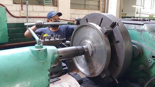 fabricación de poleas